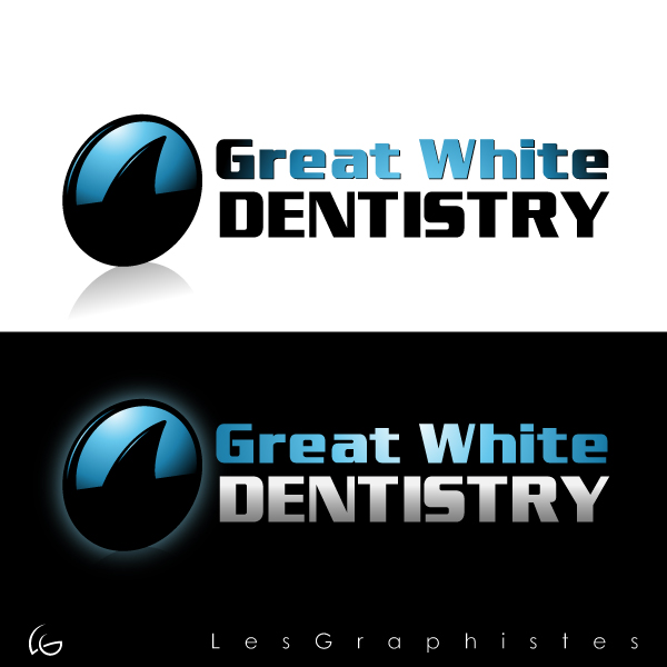 Logo Design by Les-Graphistes - Entry No. 13 in the Logo Design Contest Logo Design for Great White Dentistry.
