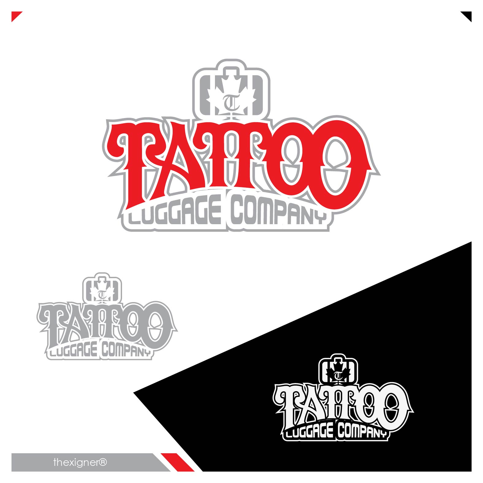 Logo Design by lagalag - Entry No. 22 in the Logo Design Contest Artistic Logo Design for Tattoo Luggage Company.