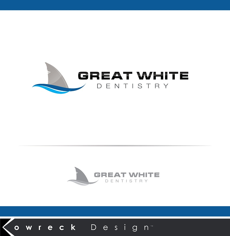 Logo Design by kowreck - Entry No. 19 in the Logo Design Contest Logo Design for Great White Dentistry.