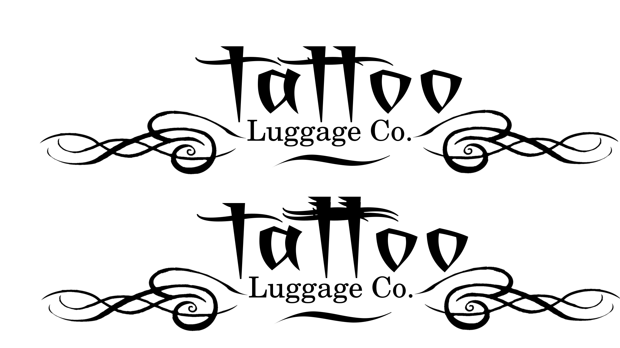 Logo Design by Eric Vincent - Entry No. 46 in the Logo Design Contest Artistic Logo Design for Tattoo Luggage Company.
