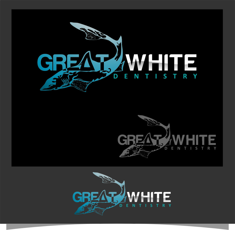 Logo Design by Ngepet_art - Entry No. 24 in the Logo Design Contest Logo Design for Great White Dentistry.