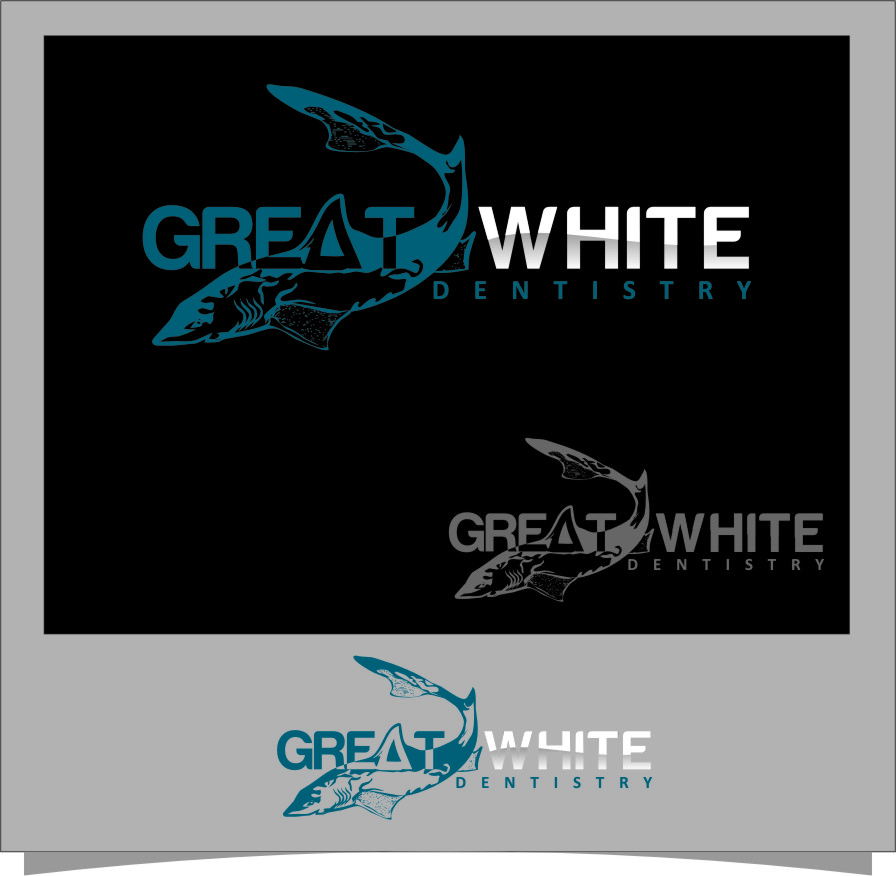 Logo Design by Ngepet_art - Entry No. 25 in the Logo Design Contest Logo Design for Great White Dentistry.