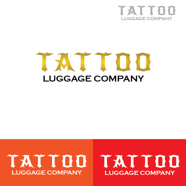 Logo Design by Private User - Entry No. 48 in the Logo Design Contest Artistic Logo Design for Tattoo Luggage Company.