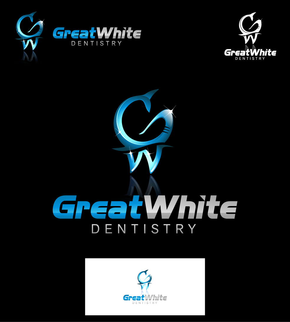 Logo Design by graphicleaf - Entry No. 26 in the Logo Design Contest Logo Design for Great White Dentistry.