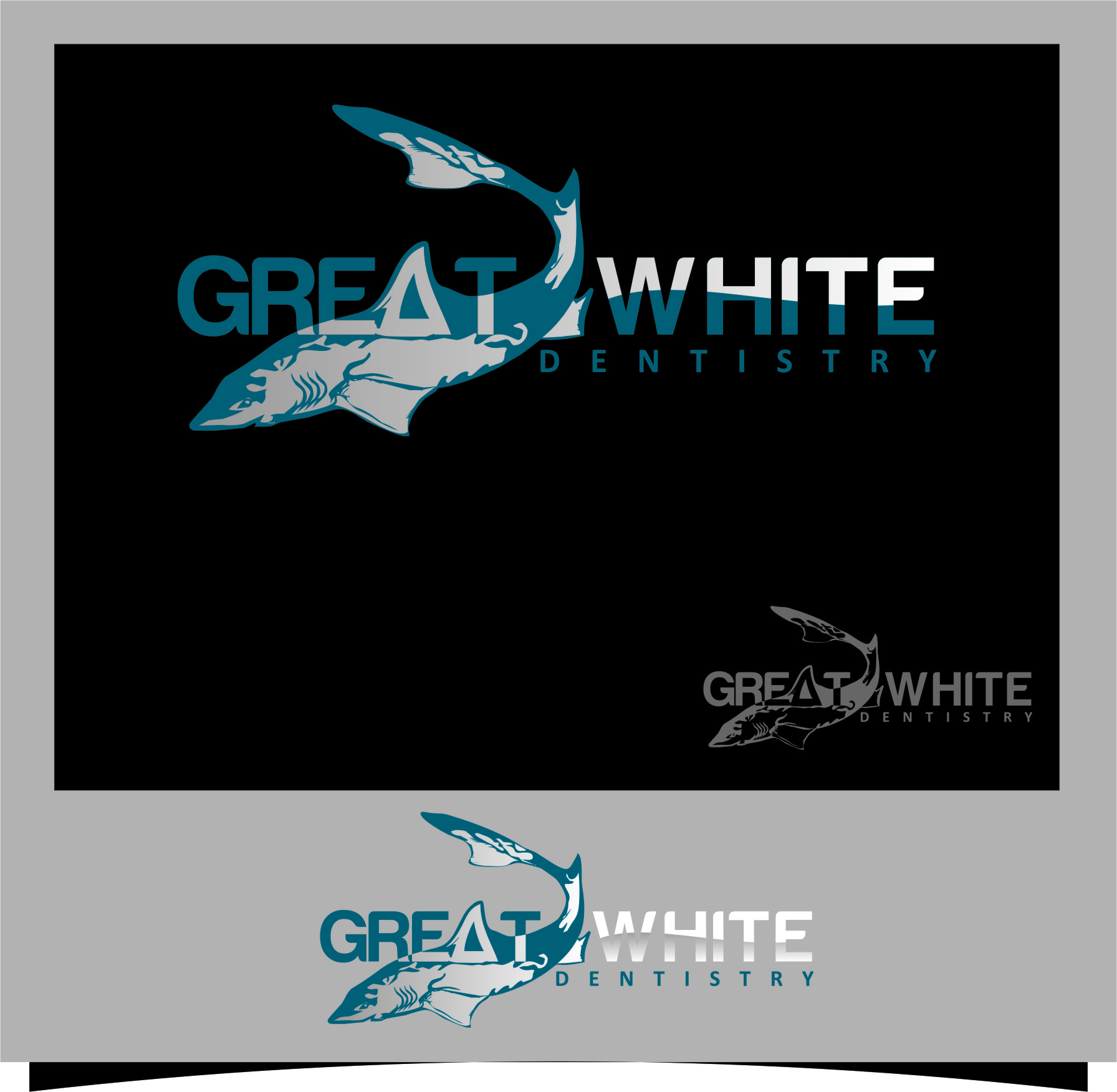 Logo Design by Ngepet_art - Entry No. 27 in the Logo Design Contest Logo Design for Great White Dentistry.