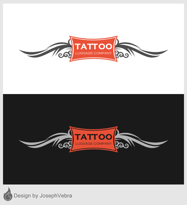 Logo Design by Joseph Vebra - Entry No. 49 in the Logo Design Contest Artistic Logo Design for Tattoo Luggage Company.