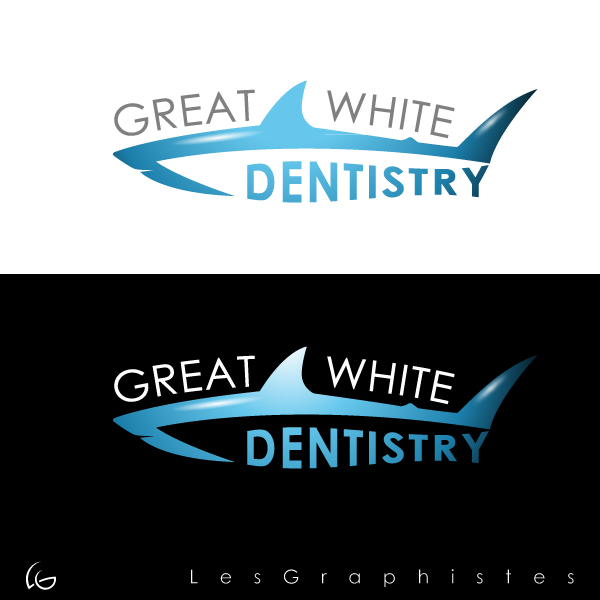 Logo Design by Les-Graphistes - Entry No. 29 in the Logo Design Contest Logo Design for Great White Dentistry.