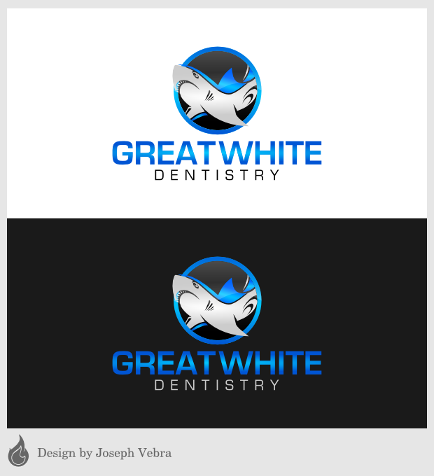 Logo Design by Joseph Vebra - Entry No. 31 in the Logo Design Contest Logo Design for Great White Dentistry.