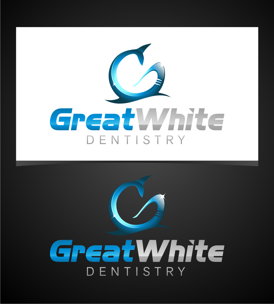 Logo Design by graphicleaf - Entry No. 32 in the Logo Design Contest Logo Design for Great White Dentistry.