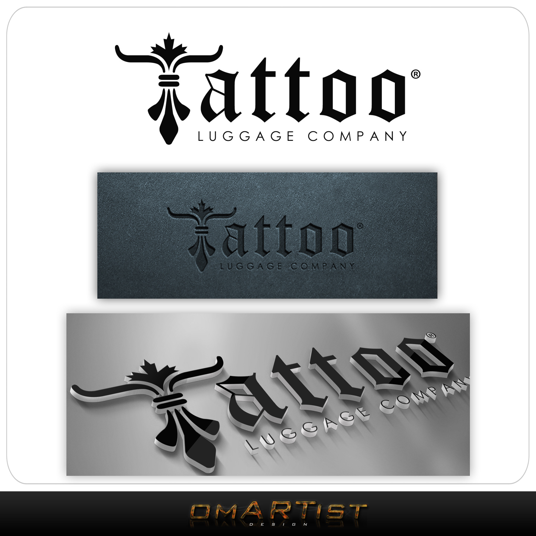 Logo Design by omARTist - Entry No. 52 in the Logo Design Contest Artistic Logo Design for Tattoo Luggage Company.
