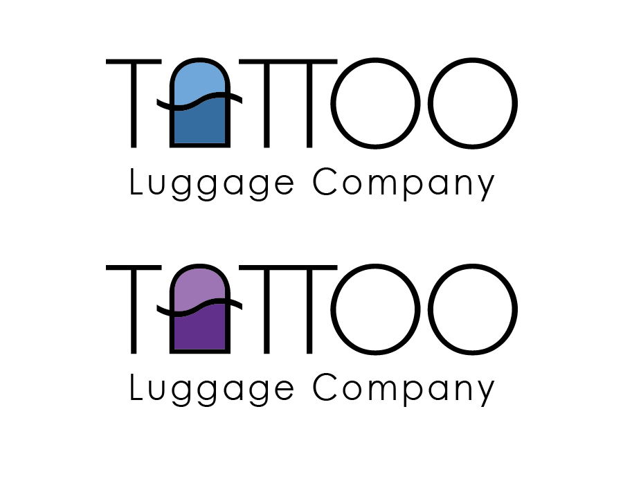 Logo Design by Christina Evans - Entry No. 53 in the Logo Design Contest Artistic Logo Design for Tattoo Luggage Company.