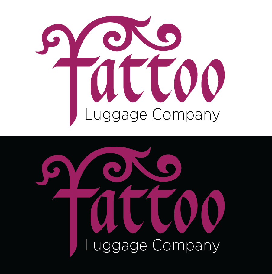 Logo Design by Christina Evans - Entry No. 54 in the Logo Design Contest Artistic Logo Design for Tattoo Luggage Company.