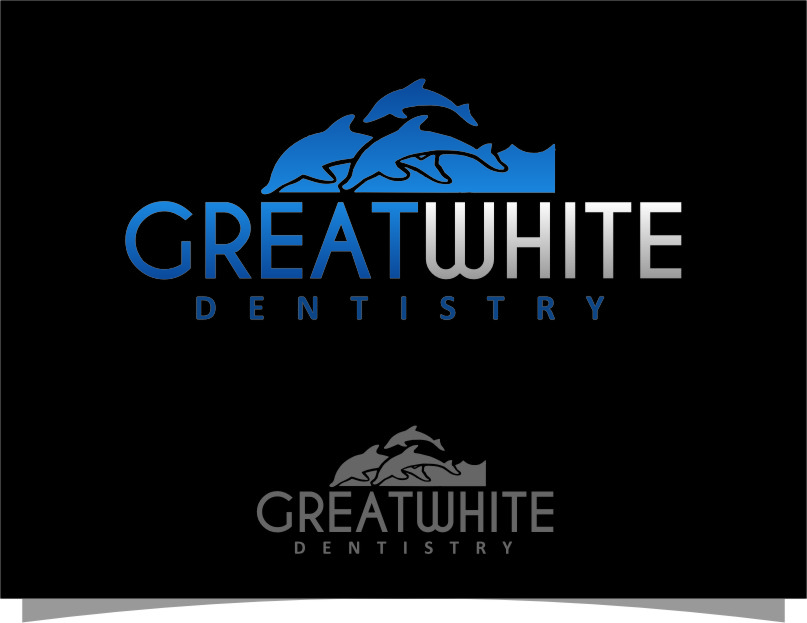 Logo Design by Ngepet_art - Entry No. 33 in the Logo Design Contest Logo Design for Great White Dentistry.
