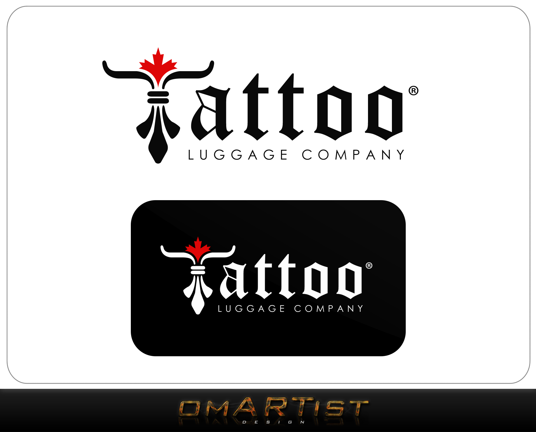 Logo Design by omARTist - Entry No. 56 in the Logo Design Contest Artistic Logo Design for Tattoo Luggage Company.
