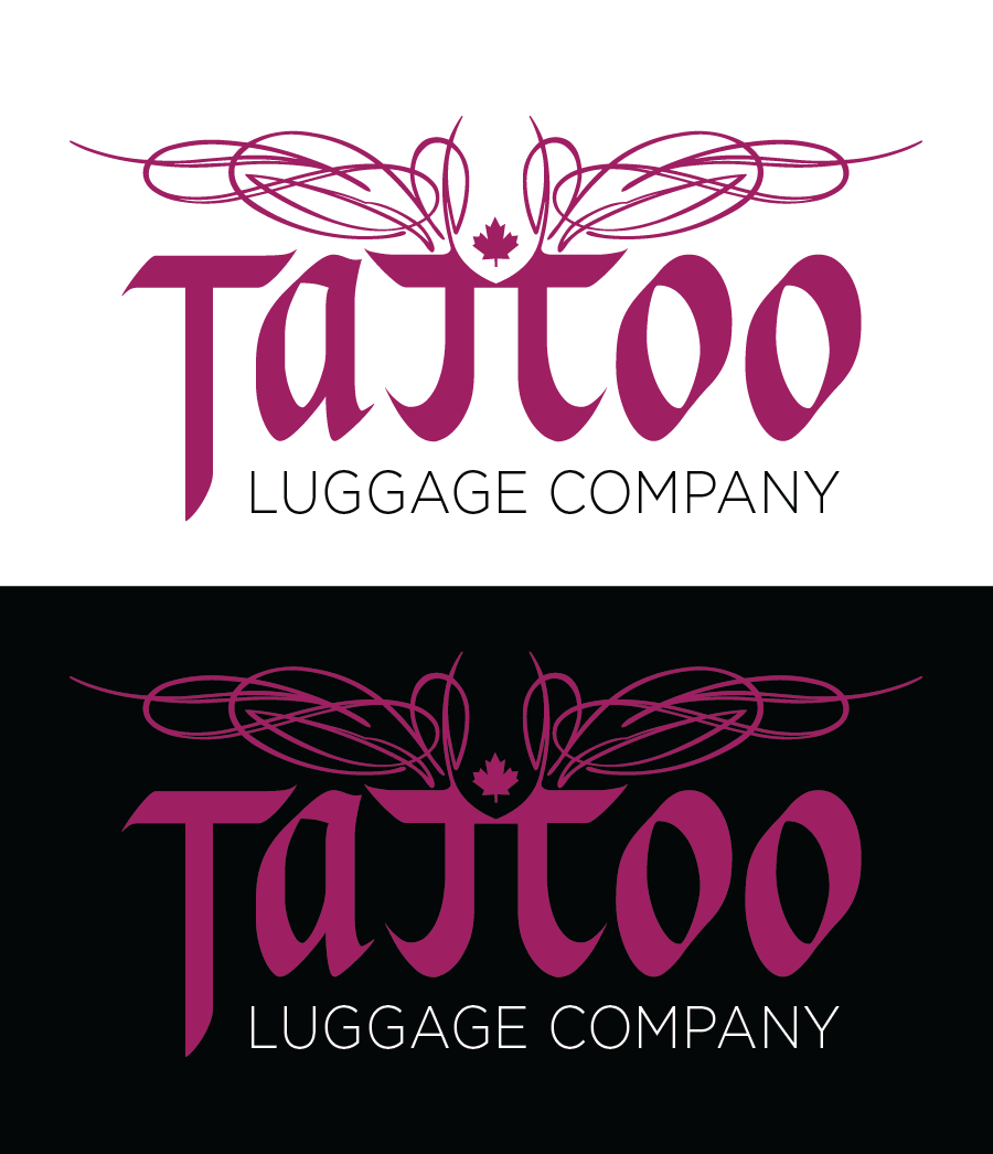 Logo Design by Christina Evans - Entry No. 61 in the Logo Design Contest Artistic Logo Design for Tattoo Luggage Company.