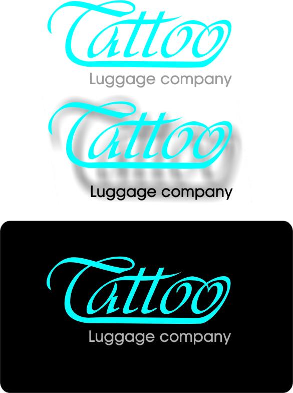 Logo Design by Korsunov Oleg - Entry No. 62 in the Logo Design Contest Artistic Logo Design for Tattoo Luggage Company.