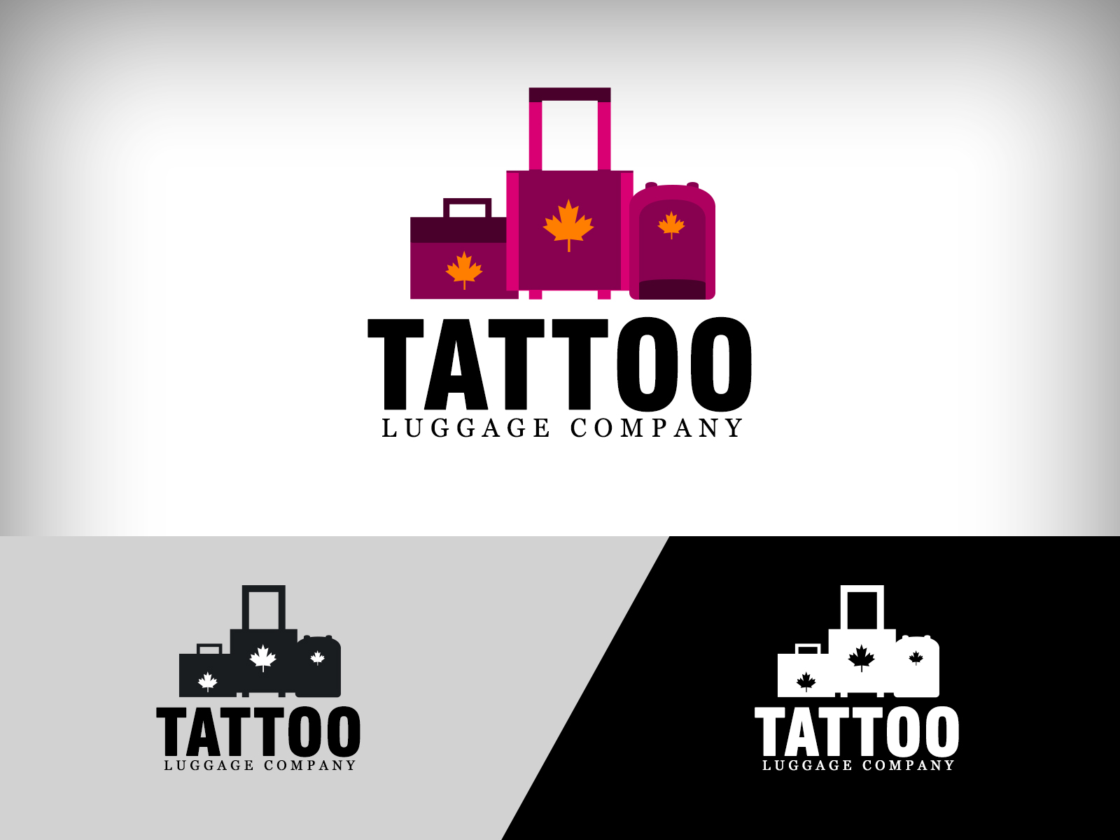 Logo Design by Virgilio Pineda III - Entry No. 88 in the Logo Design Contest Artistic Logo Design for Tattoo Luggage Company.