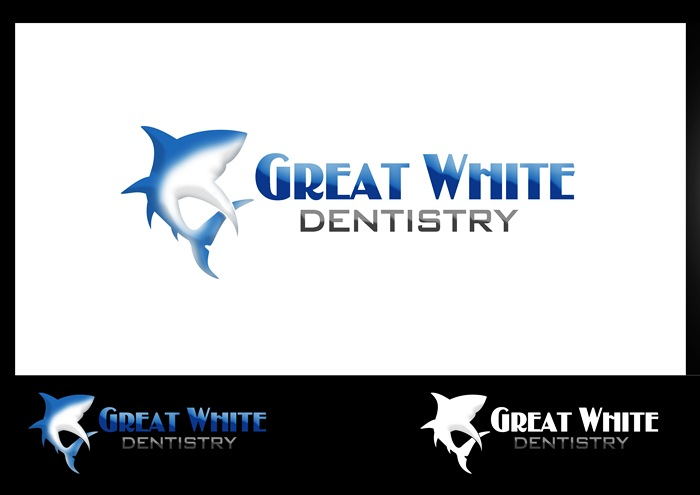 Logo Design by Respati Himawan - Entry No. 48 in the Logo Design Contest Logo Design for Great White Dentistry.