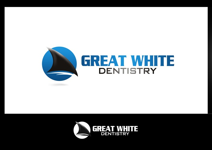 Logo Design by Respati Himawan - Entry No. 49 in the Logo Design Contest Logo Design for Great White Dentistry.