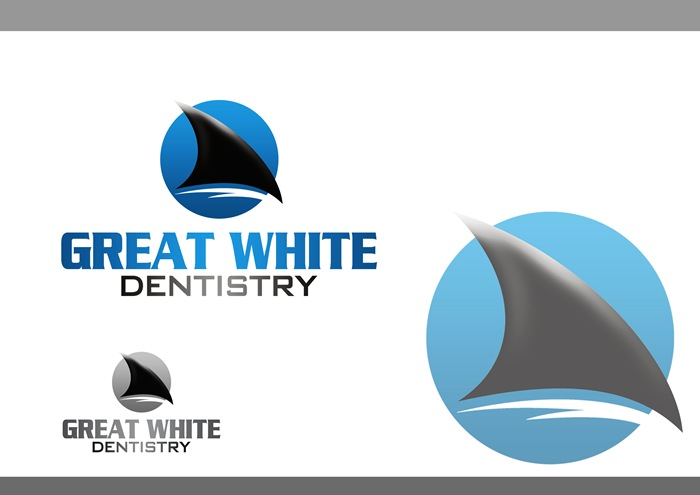 Logo Design by Respati Himawan - Entry No. 50 in the Logo Design Contest Logo Design for Great White Dentistry.