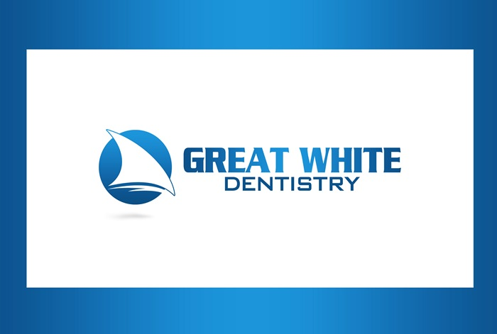Logo Design by Respati Himawan - Entry No. 51 in the Logo Design Contest Logo Design for Great White Dentistry.