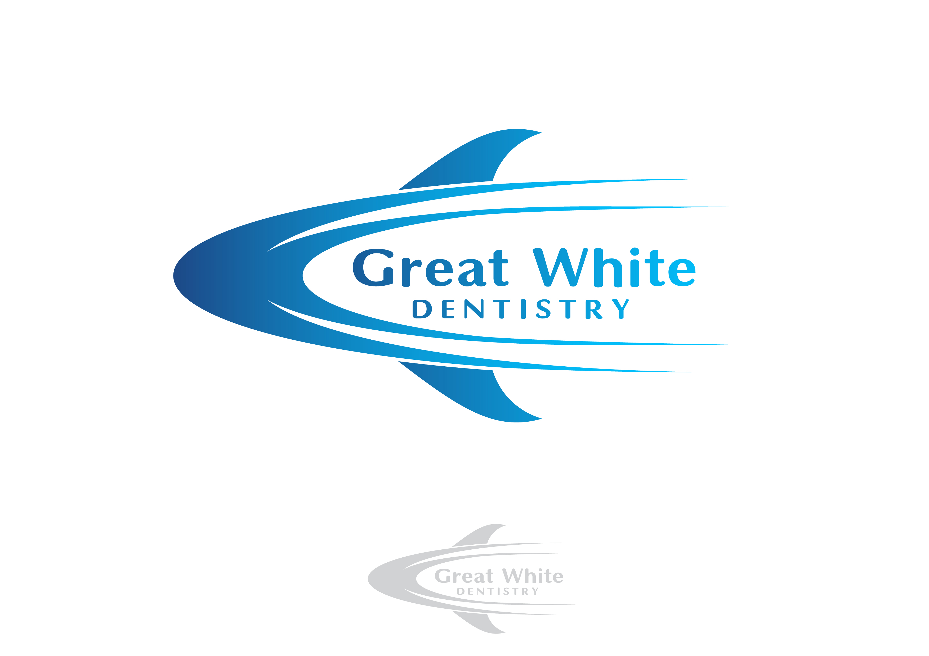 Logo Design by 3draw - Entry No. 55 in the Logo Design Contest Logo Design for Great White Dentistry.