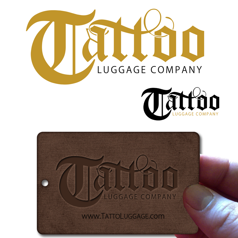 Logo Design by Robert Turla - Entry No. 99 in the Logo Design Contest Artistic Logo Design for Tattoo Luggage Company.