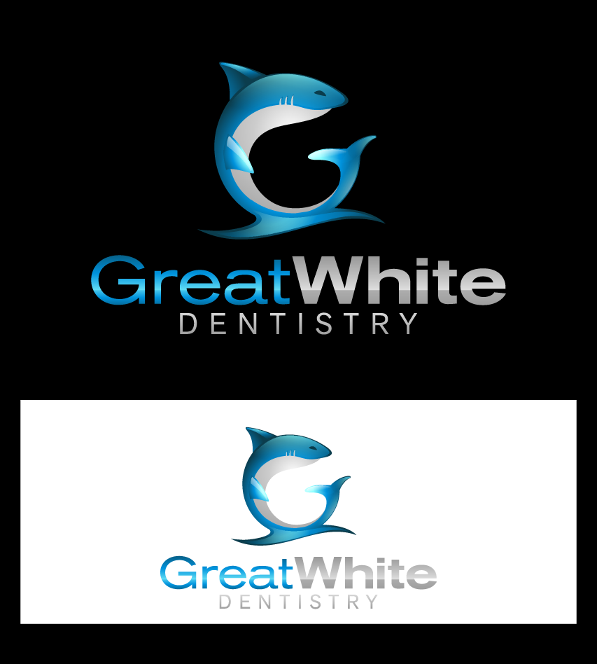 Logo Design by graphicleaf - Entry No. 60 in the Logo Design Contest Logo Design for Great White Dentistry.