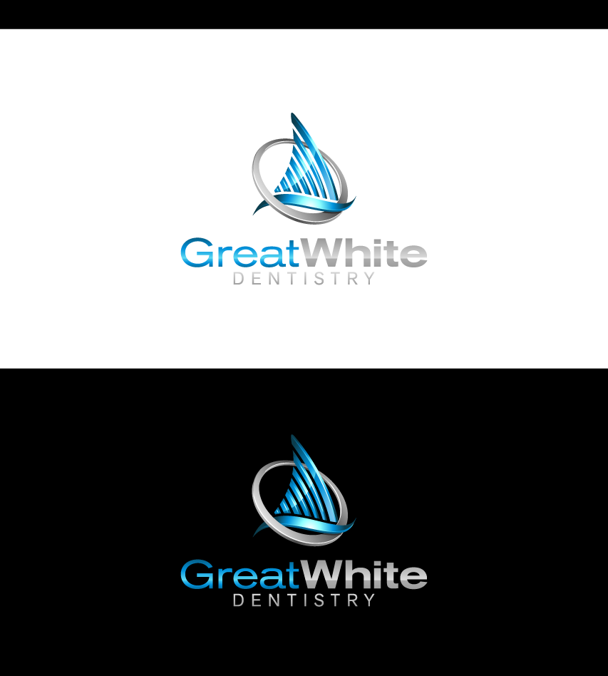 Logo Design by graphicleaf - Entry No. 70 in the Logo Design Contest Logo Design for Great White Dentistry.