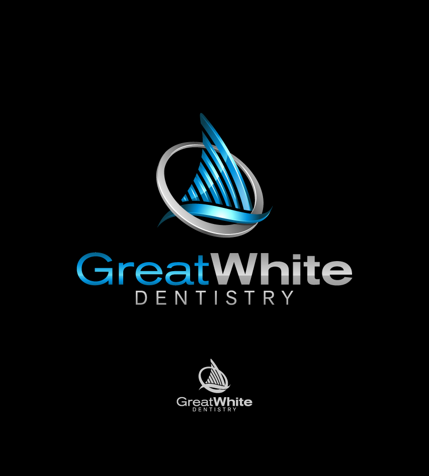 Logo Design by graphicleaf - Entry No. 71 in the Logo Design Contest Logo Design for Great White Dentistry.