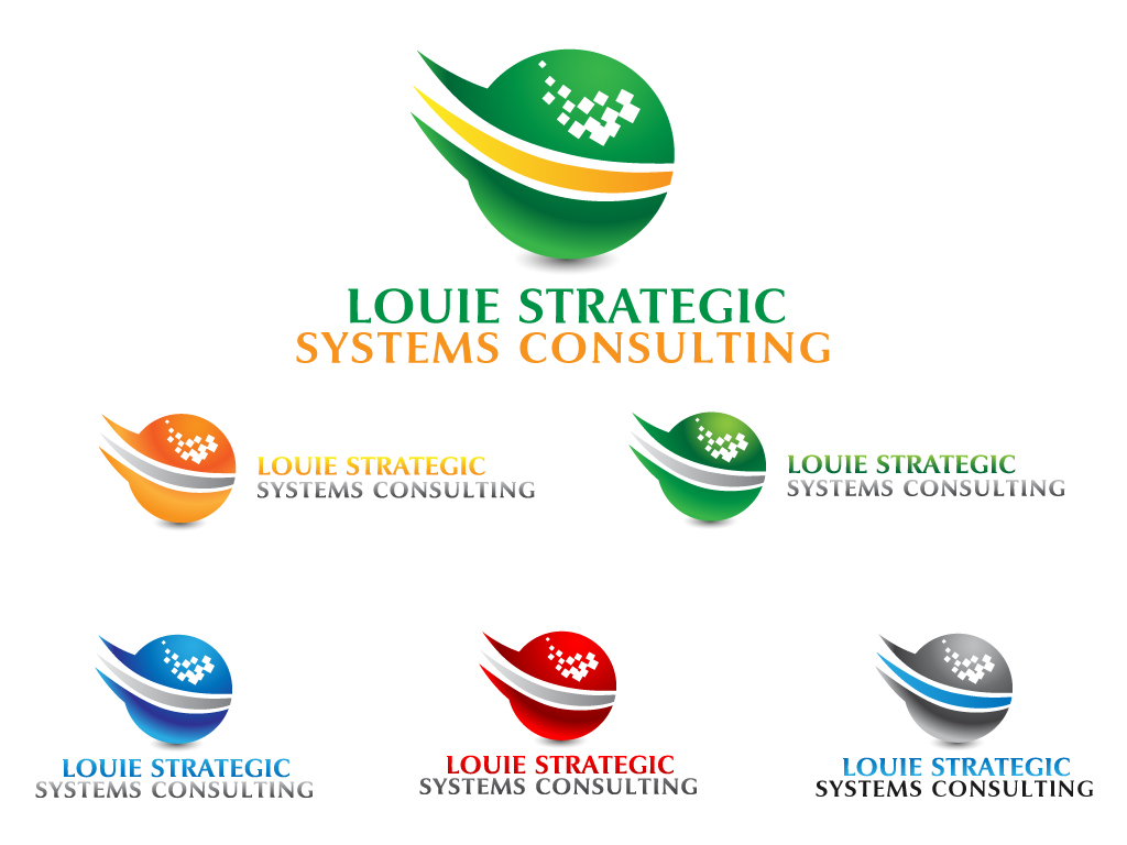 Logo Design by Jagdeep Singh - Entry No. 16 in the Logo Design Contest Artistic Logo Design for Louie Strategic Systems Consulting.