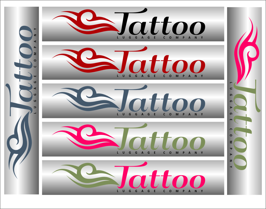 Logo Design by Ngepet_art - Entry No. 127 in the Logo Design Contest Artistic Logo Design for Tattoo Luggage Company.