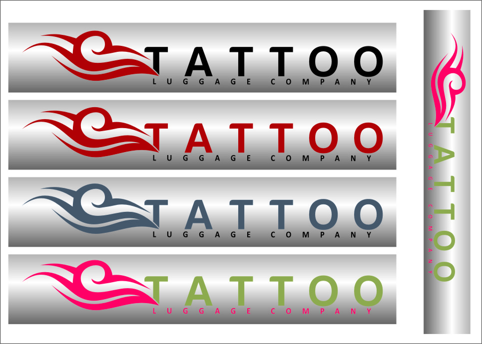 Logo Design by Ngepet_art - Entry No. 128 in the Logo Design Contest Artistic Logo Design for Tattoo Luggage Company.