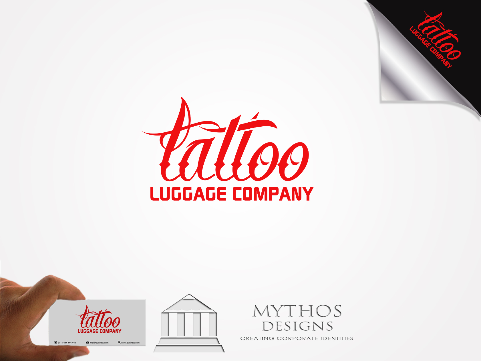 Logo Design by Mythos Designs - Entry No. 133 in the Logo Design Contest Artistic Logo Design for Tattoo Luggage Company.