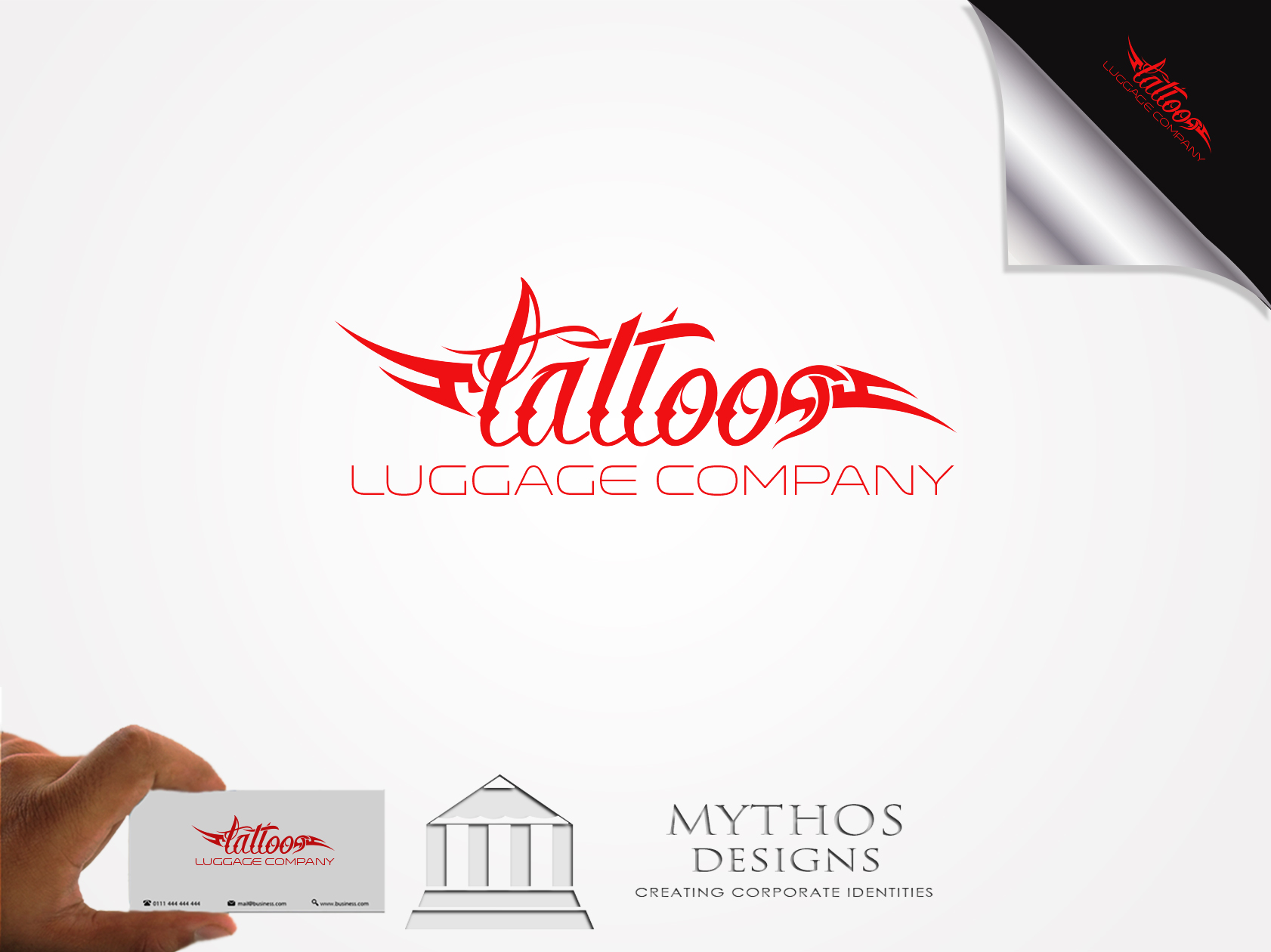 Logo Design by Mythos Designs - Entry No. 134 in the Logo Design Contest Artistic Logo Design for Tattoo Luggage Company.