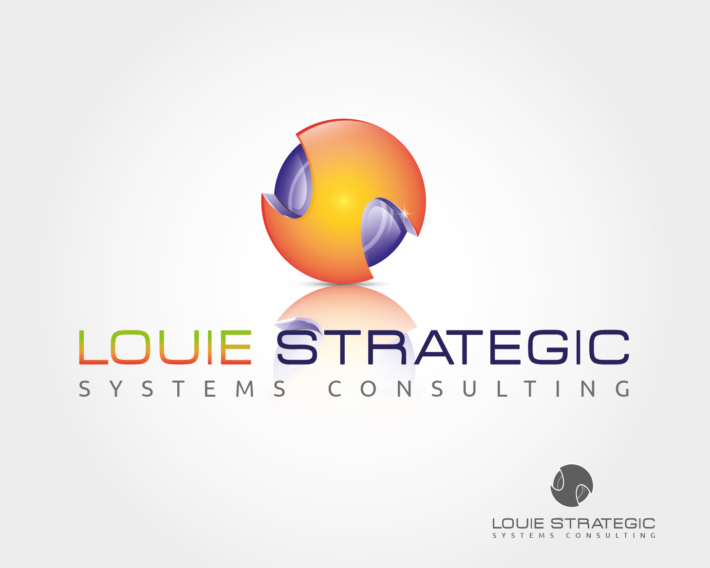 Logo Design by VENTSISLAV KOVACHEV - Entry No. 27 in the Logo Design Contest Artistic Logo Design for Louie Strategic Systems Consulting.