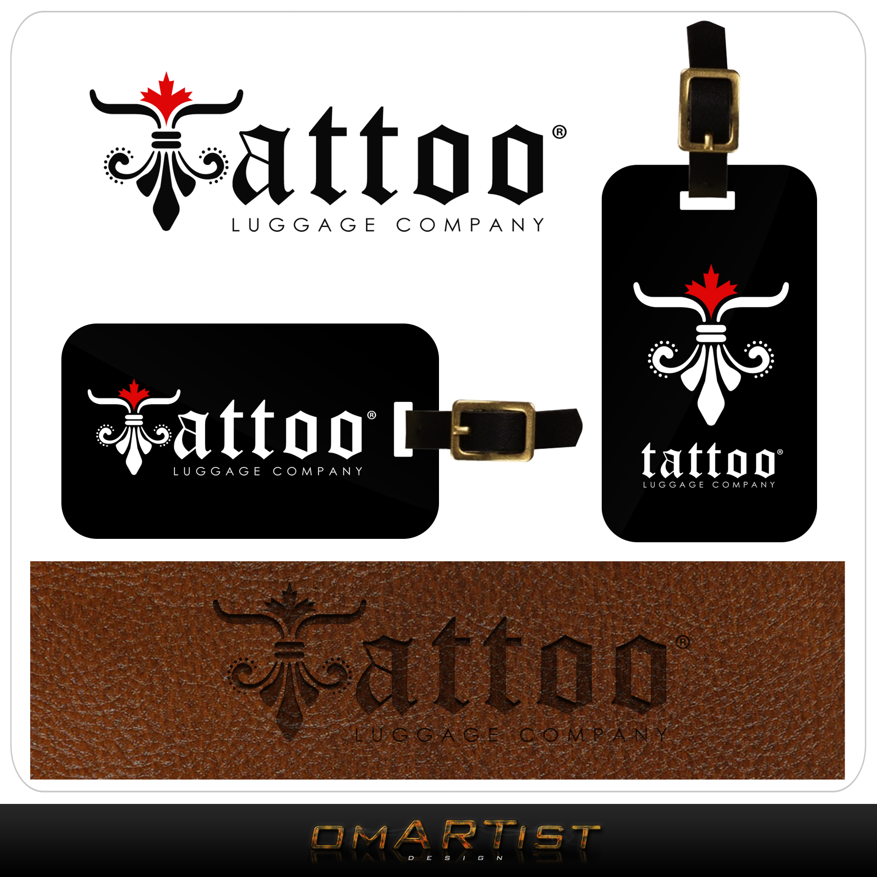 Logo Design by omARTist - Entry No. 141 in the Logo Design Contest Artistic Logo Design for Tattoo Luggage Company.