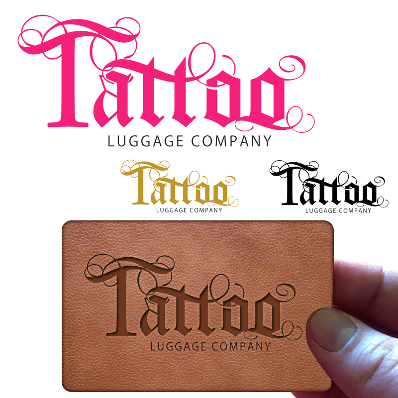 Logo Design by Robert Turla - Entry No. 142 in the Logo Design Contest Artistic Logo Design for Tattoo Luggage Company.