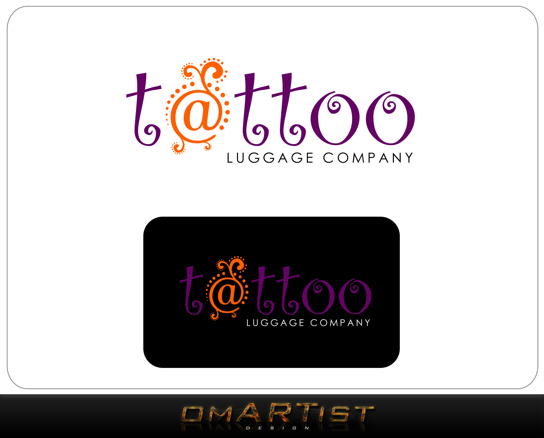 Logo Design by omARTist - Entry No. 155 in the Logo Design Contest Artistic Logo Design for Tattoo Luggage Company.