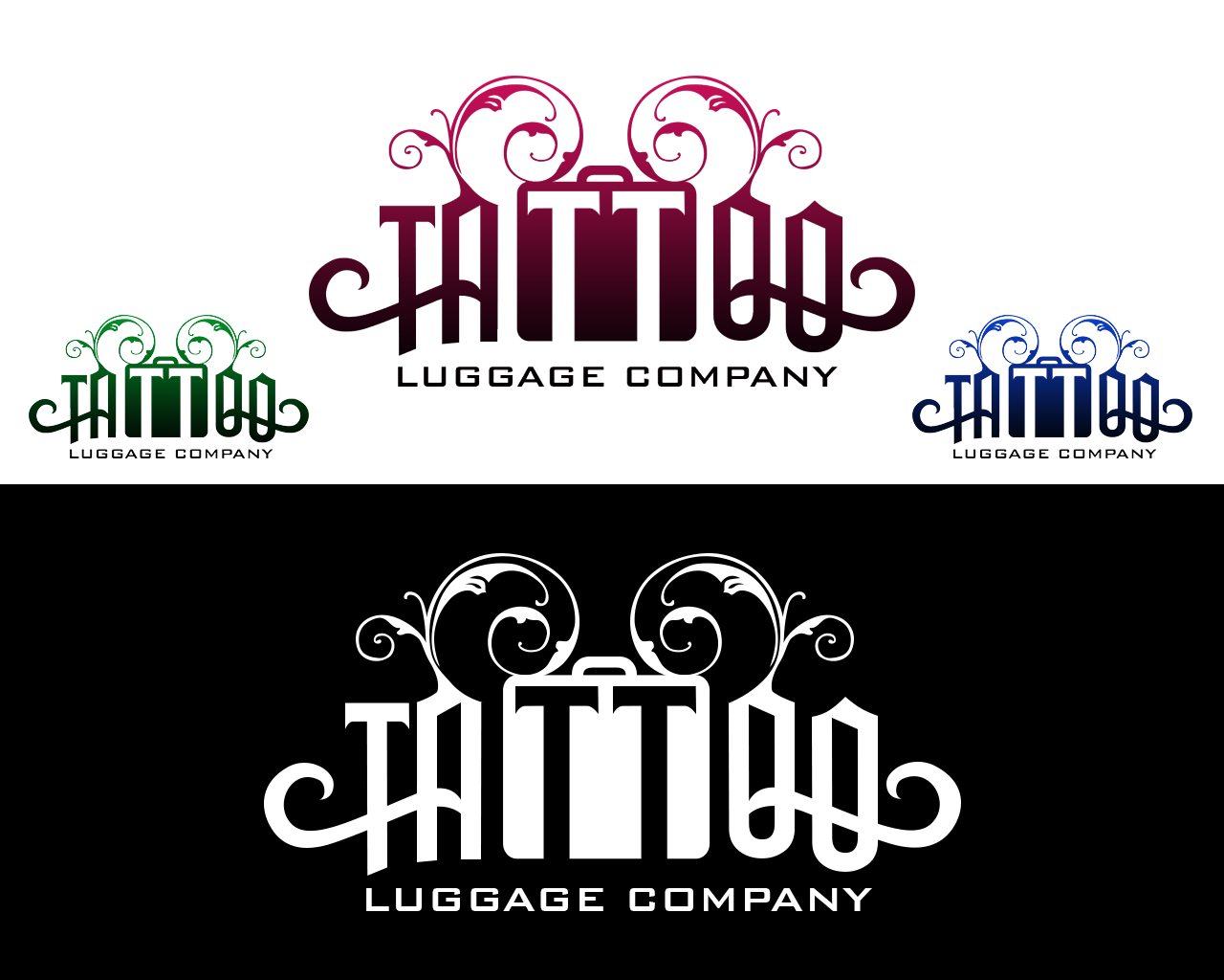Logo Design by philipprince - Entry No. 158 in the Logo Design Contest Artistic Logo Design for Tattoo Luggage Company.