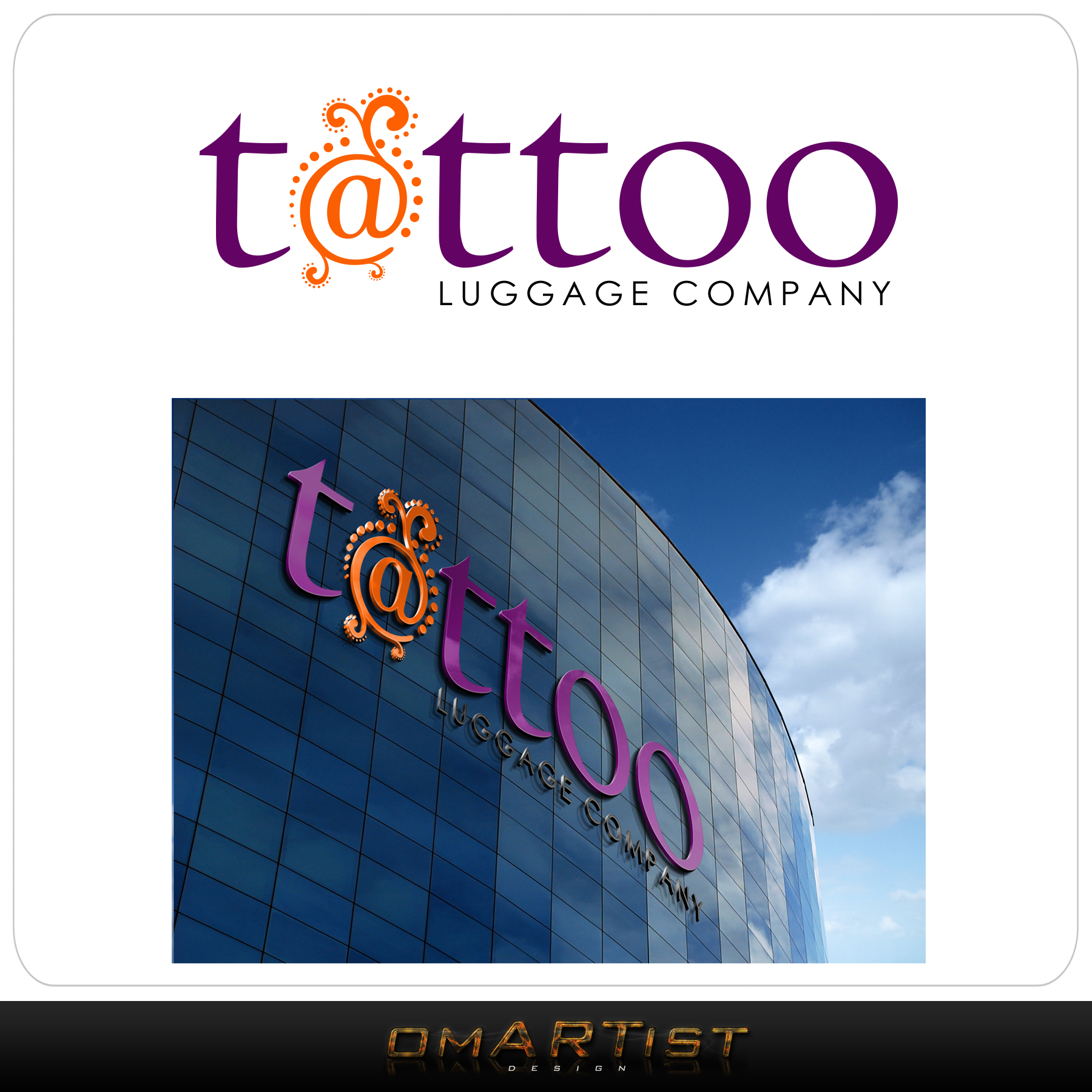 Logo Design by omARTist - Entry No. 162 in the Logo Design Contest Artistic Logo Design for Tattoo Luggage Company.