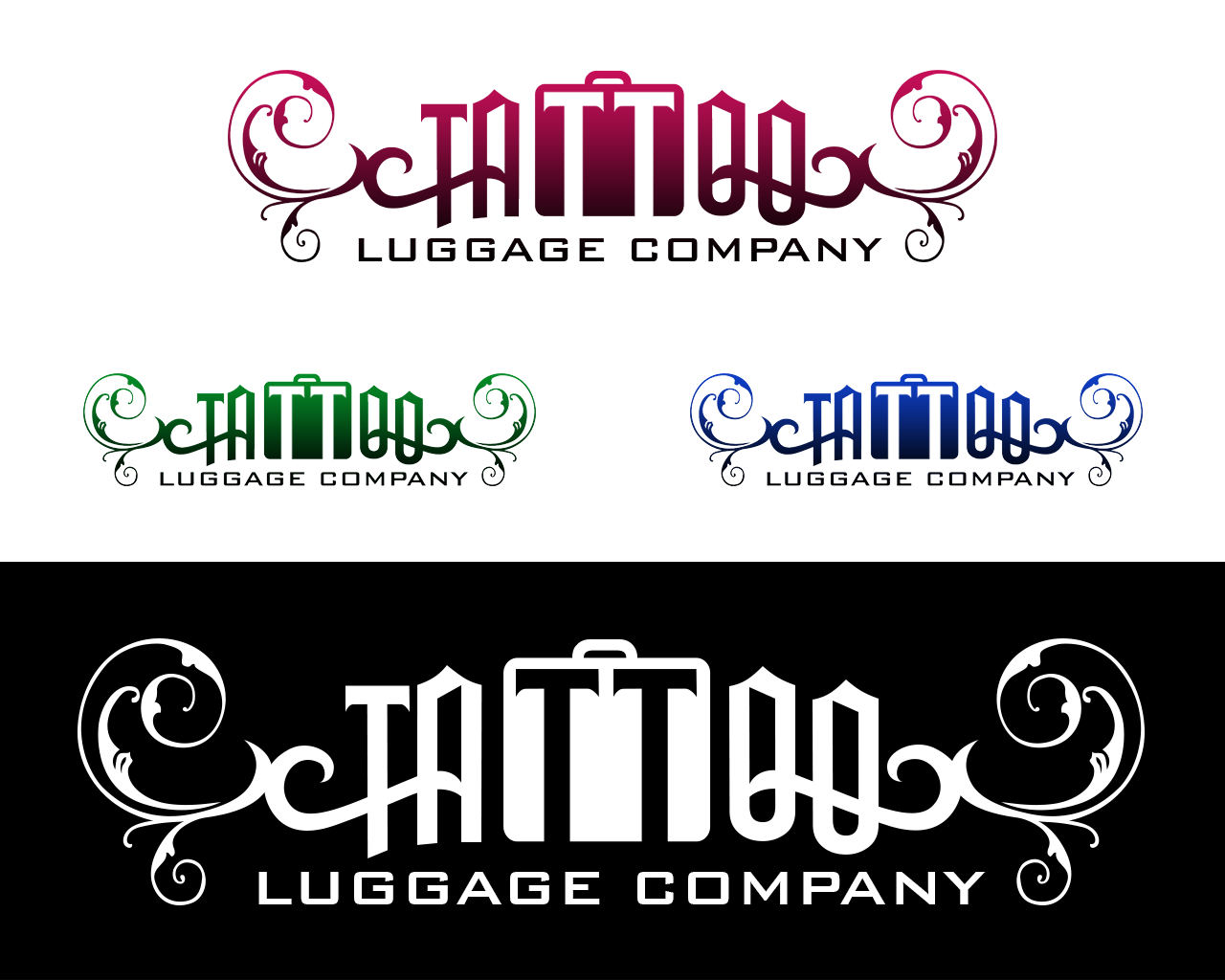 Logo Design by philipprince - Entry No. 163 in the Logo Design Contest Artistic Logo Design for Tattoo Luggage Company.