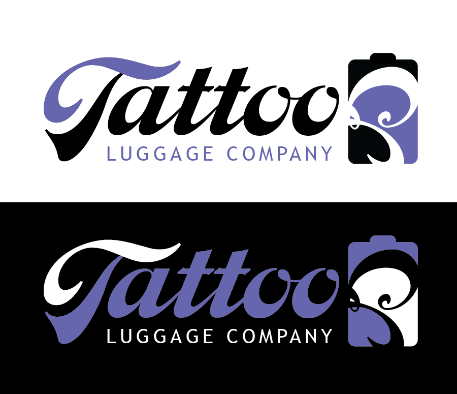 Logo Design by Christina Evans - Entry No. 165 in the Logo Design Contest Artistic Logo Design for Tattoo Luggage Company.