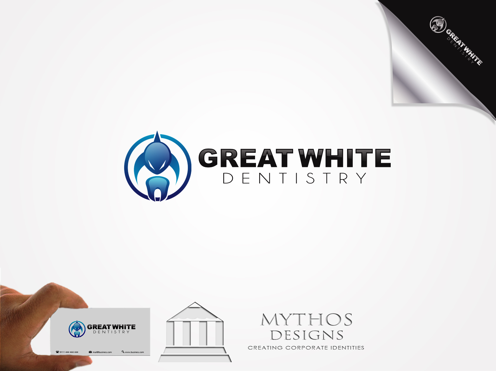 Logo Design by Mythos Designs - Entry No. 86 in the Logo Design Contest Logo Design for Great White Dentistry.