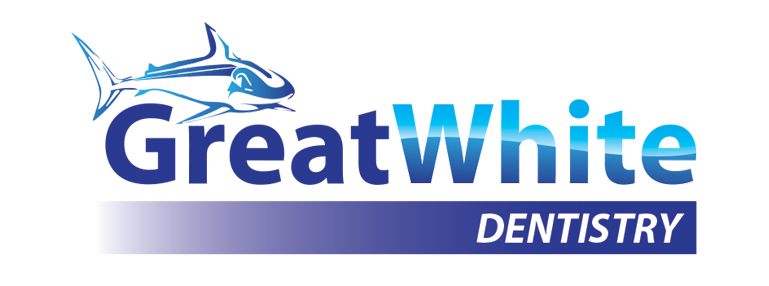 Logo Design by Mohamed Sheikh - Entry No. 95 in the Logo Design Contest Logo Design for Great White Dentistry.