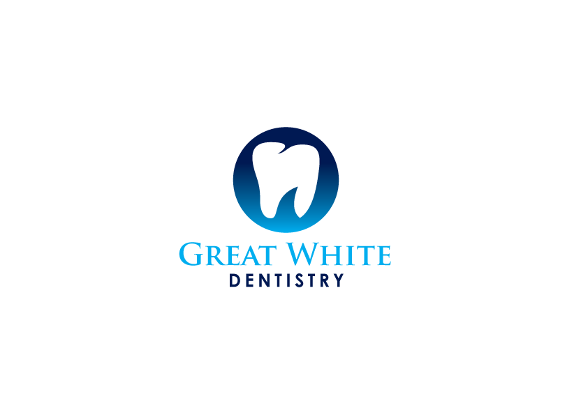 Logo Design by Severiano Fernandes - Entry No. 96 in the Logo Design Contest Logo Design for Great White Dentistry.