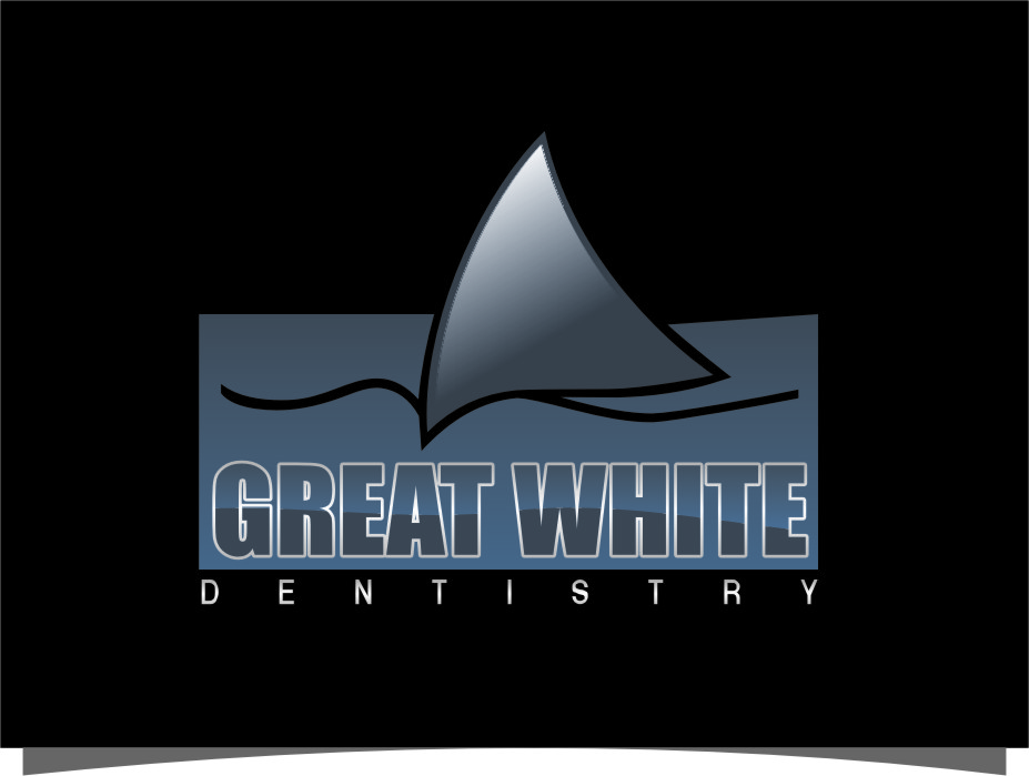 Logo Design by Ngepet_art - Entry No. 97 in the Logo Design Contest Logo Design for Great White Dentistry.