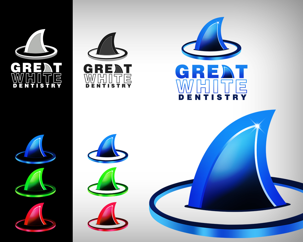Logo Design by Virgilio Pineda III - Entry No. 105 in the Logo Design Contest Logo Design for Great White Dentistry.