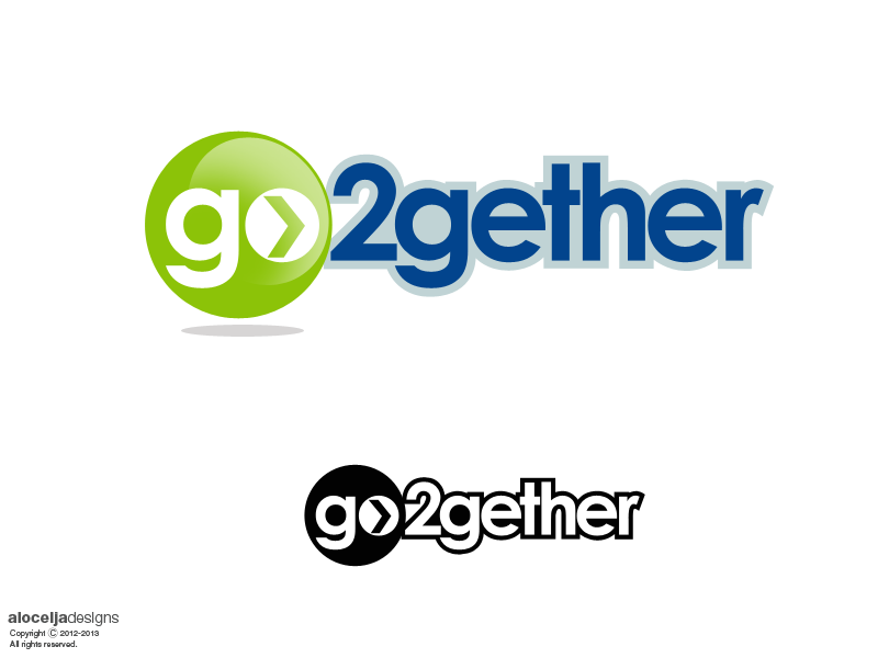 Logo Design by alocelja - Entry No. 5 in the Logo Design Contest Captivating Logo Design for GO2GETHER.