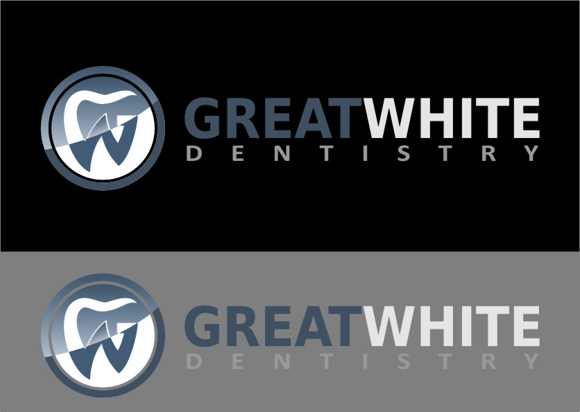 Logo Design by Ngepet_art - Entry No. 110 in the Logo Design Contest Logo Design for Great White Dentistry.
